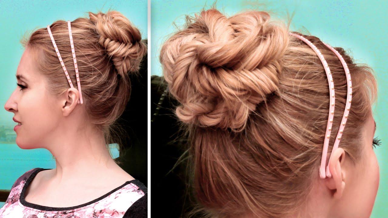 Chignon en tresse épi facile à faire ☆ Tuto coiffure soirée, mariage, tous  les jours , YouTube