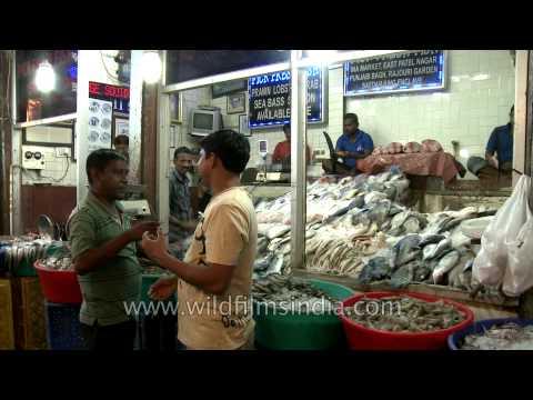 Seafood corner at INA Market, Delhi
