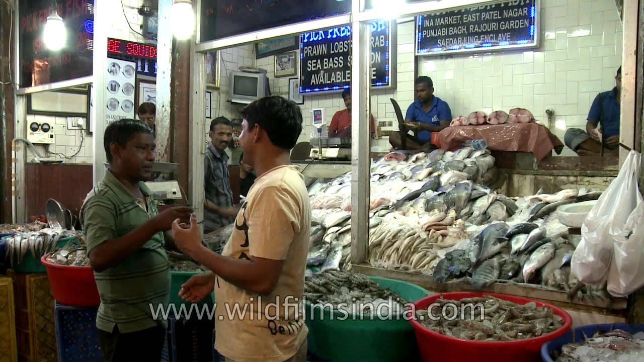 Fish aquarium market in delhi - Seafood Corner At Ina Market Delhi