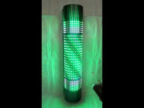 ไฟหมุนร้านเสริมสวย ไฟหมุนร้านเสริมสวยแบบ LED หลากสีสวยสดใส ไฟซาลอน ไฟหมุน SP90-2G  ( ขนาด 90 cm.)