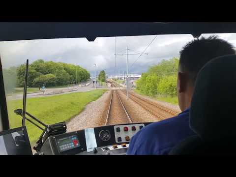 Sheffield Supertram Driver's Eye: Halfway - Castle Square [B]