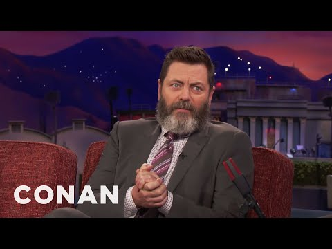 Nick Offerman Became A Born-Again Christian For A Girl  - CONAN on TBS