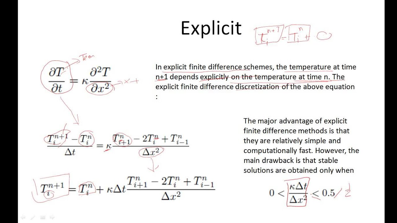 Lecture : 5 | Explicit and Implicit Finite Difference