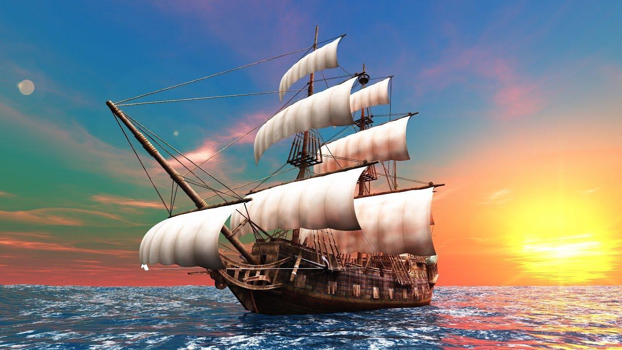 Юбилеем женщине, открытки с кораблем и морем