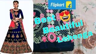 Flipkart Embroidery bridal designer lehenga choli online shopping|party wear lehenga