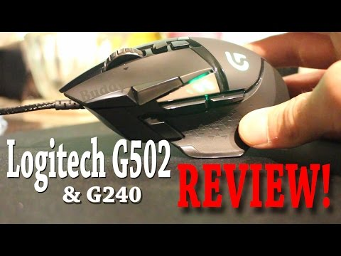 Logitech G502 Proteus Spectrum Gaming Mouse & G240 Mouse Pad Review W/unboxing!