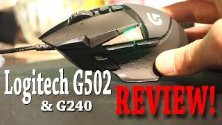 Logitech G502 Proteus Spectrum Gaming Mouse & G240 Mouse Pad Review w/unboxing!