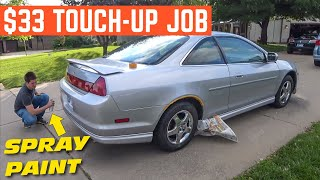 SPRAY PAINTING My Cheap Honda Accord EX Coupe *It's All ONE Color*