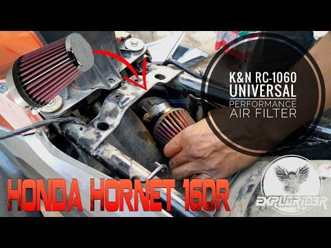 How to install K&N air filter in Honda Hornet 160R 📛📛