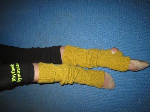 Гетры для танцев вязаные спицами для детей