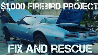 part 1 project 75 pontiac firebird rescue classic revival road trip hot rod show most roadkill award