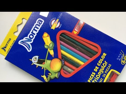 Lápices de colores Norma de 36 piezas - 🔺Review🔻- StephanieVlog