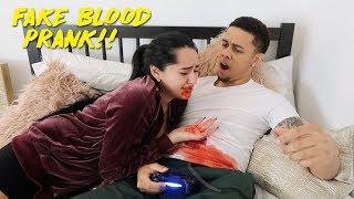 GIRLFRIEND THROWS UP BLOOD ON BOYFRIEND!! *AMBULANCE CALLED* | KB AND KARLA