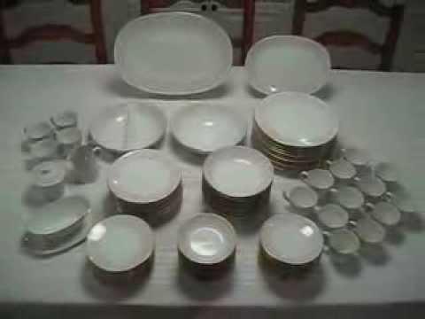 Vintage 95 piece Sango Japan Dorchester Gold Trim China Set Dinnerware Serves 12 & Vintage 95 piece Sango Japan Dorchester Gold Trim China Set ...