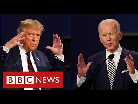Bitter divisions in final debate as US polling day approaches - BBC News