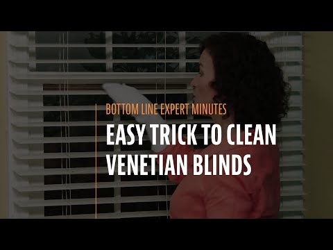 Easy Trick to Clean Venetian Blinds