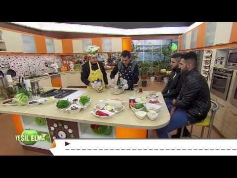Oktay Usta-Yeşil Elma Krokanlı Fıstıklı Pasta Tarifi