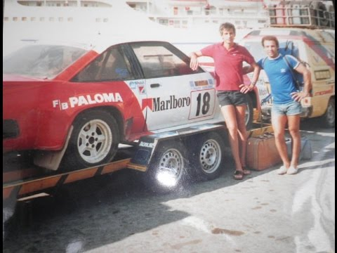 1986 Russel Brookes ex works Manta 400 crew from Cyprus  C Eliades/ T  Vassiliades Halkidikis Rally