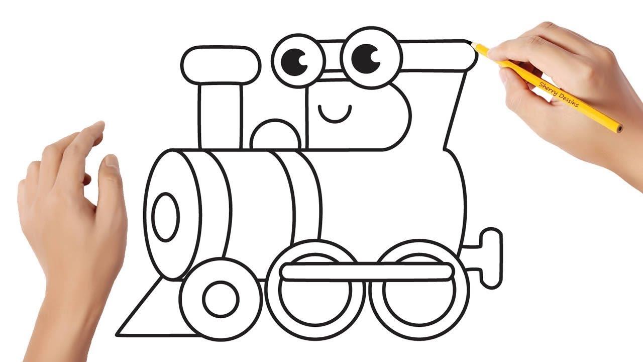 Comment Dessiner Une Locomotive Youtube