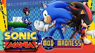 Sonic Mania PC - Cooler Sonic & Edgy Shadow in Hilltop Heights - Mod Madness