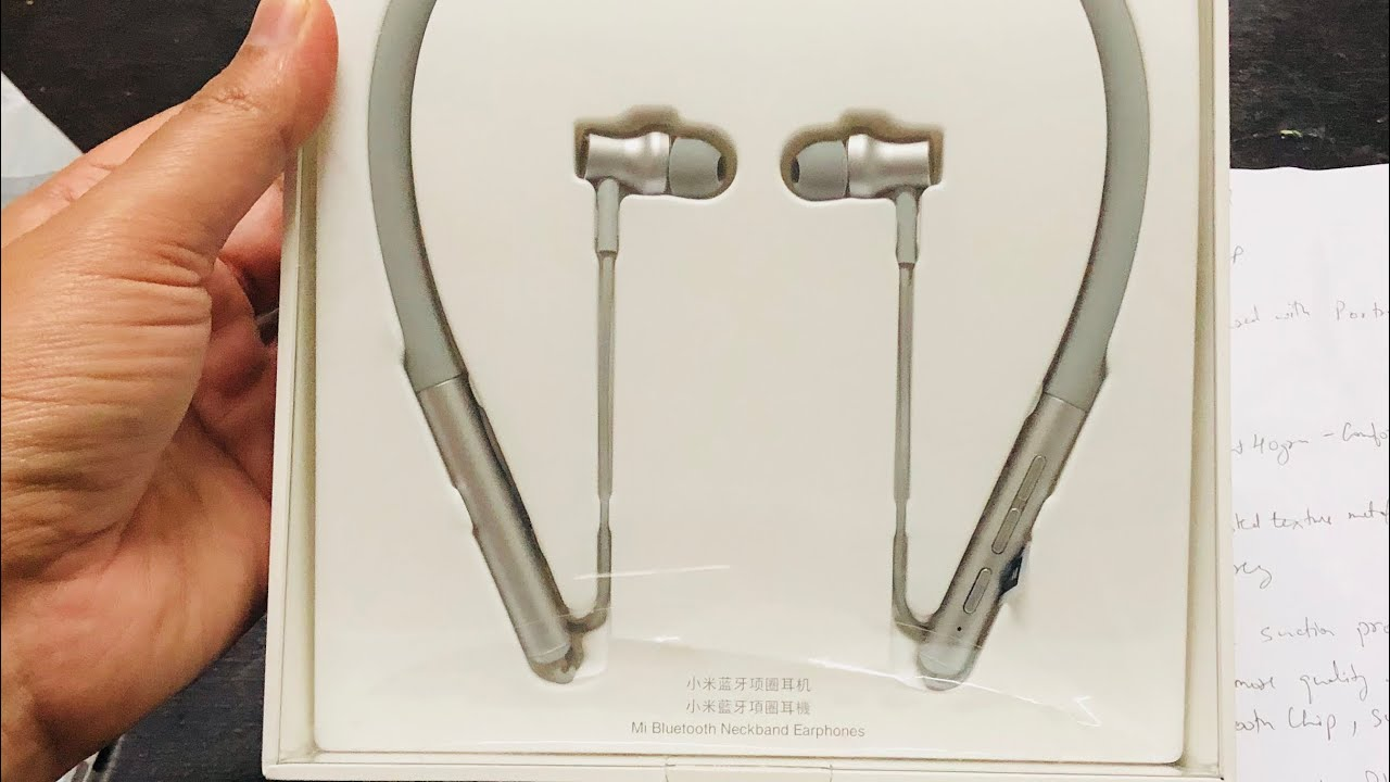 Mi Bluetooth Neckband Earphones Unboxing And First Impression Youtube