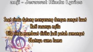 Anji   Jerawat Rindu Official Lyric Video
