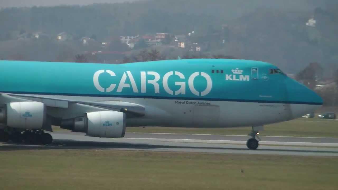 KLM Royal Dutch Airlines Boeing 747-406F(ER)   Graz Airport (GRZ LOWG) HD 9f8101acaea