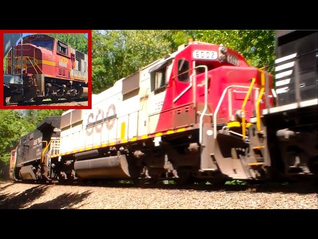 INSANE LASHUP! Soo SD60 and Warbonnet SD75 on 13R!