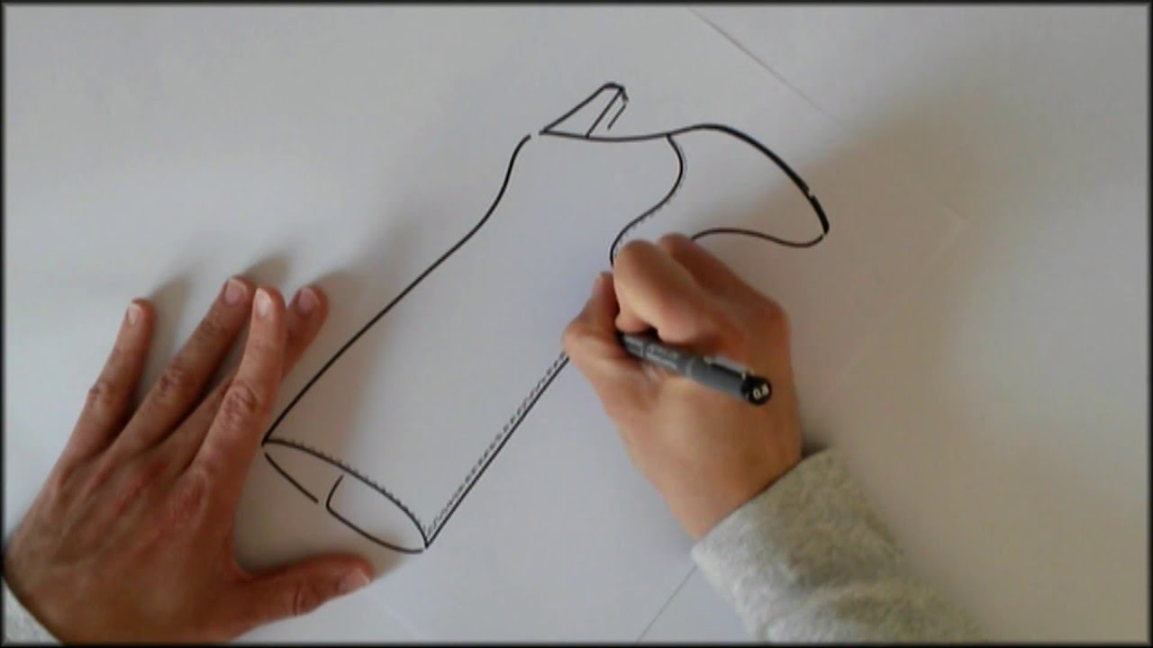 Botas y Botines. Dibujo a mano alzada del modelo Bota. - YouTube