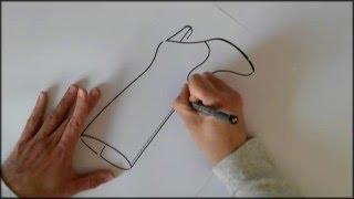 Botas y Botines. Dibujo a mano alzada del modelo Bota.