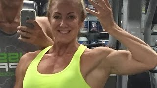 50 years young Sharon Wingate  - Female muscle