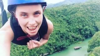 Наш полет на высоте 100 метров над землей - зип-лайн на острове Бохол, Филиппины