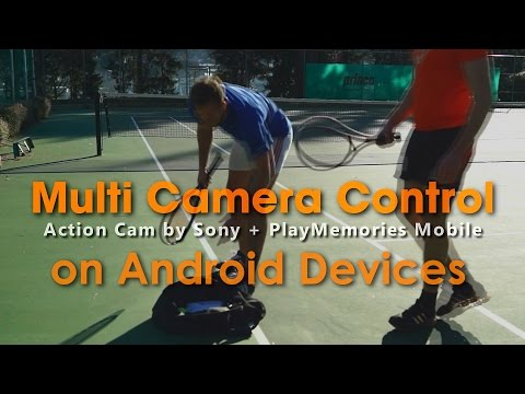 [For Android] Multi Camera Control By PlayMemories Mobile | Action Cam | Sony