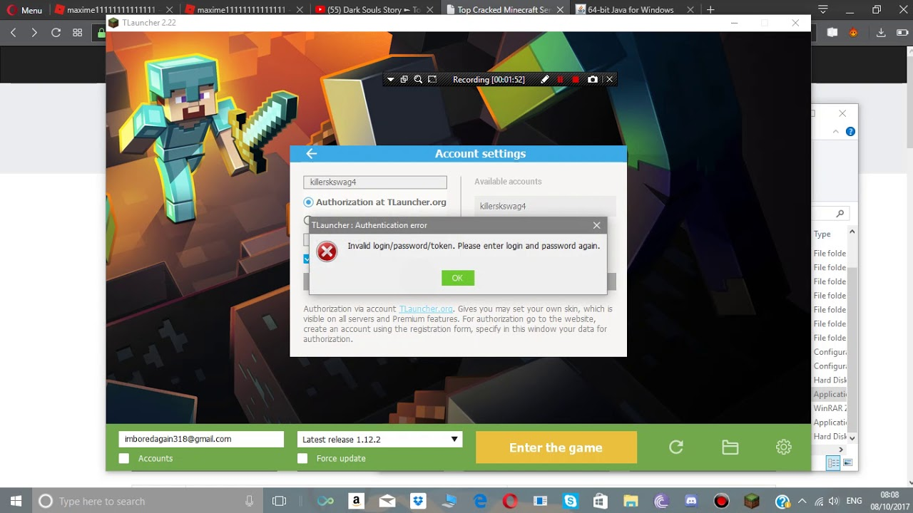 Minecraft How To Use Tlauncher Youtube