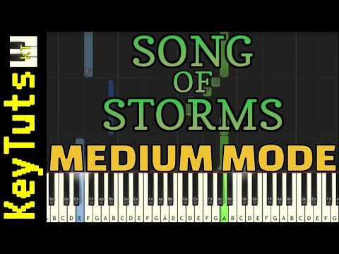 Learn to Play Song of Storms from Legend of Zelda - Medium Mode