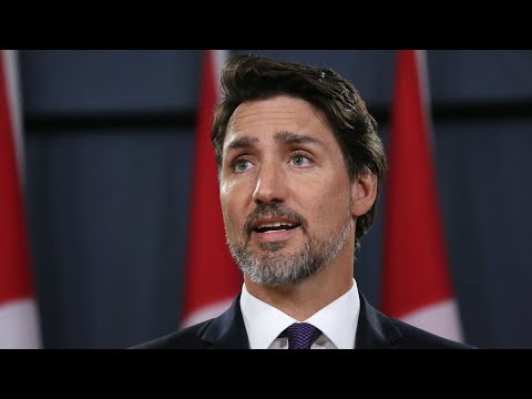 Canada's Trudeau Speaks To Reporters
