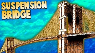 Who Built the DUMBEST FORT Contest!?  Suspension Bridge Base Silliness (Forts Multiplayer Gameplay)
