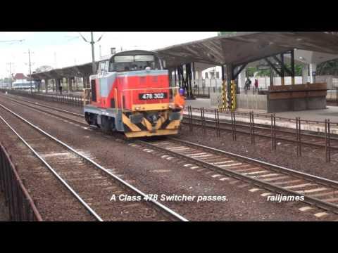 (HD) MÁV Big Yard, Historic Station, Miskolc Hungary, A Lot of Action!