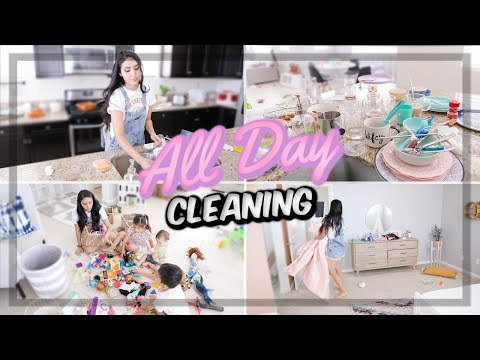 ALL DAY CLEAN WITH ME // CLEANING MOTIVATION *COMPLETE DISASTER*