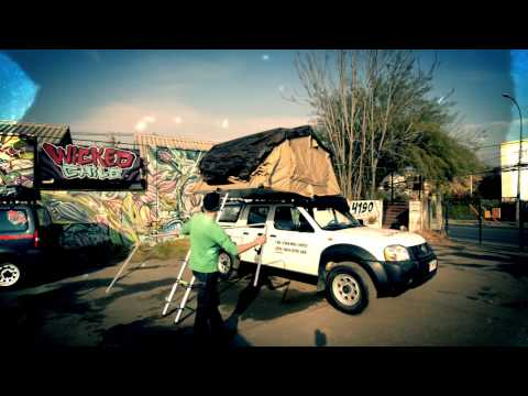 Assembling tent - Wicked Campers