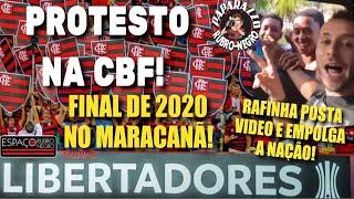 Torcida marca Bandeiraço na sede da CBF! Rafinha aparece bem em vídeo! Final no Maracanã em 2020?
