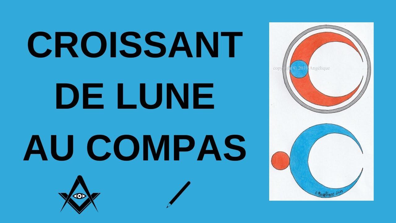 Comment Dessiner Un Croissant De Lune Au Compas Dessin Au Compas 221 Youtube