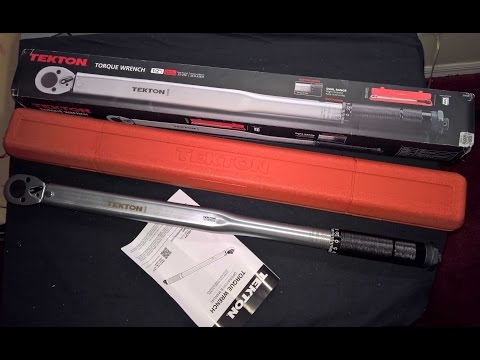 Tekton Torque Wrench 25-250 Foot Pounds Unboxing Testing