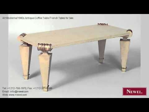 Art Moderne/1940s Antique Coffee Table French Tables for