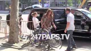 Caitlyn Jenner Filming Her New Show At Patricia Fields Store In Soho