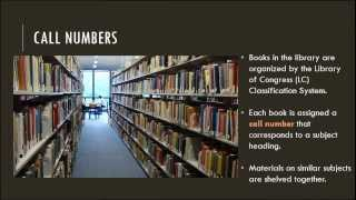 Research Minute: Using the Library - LC Call Numbers