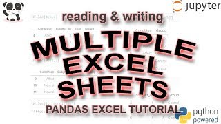 How to Read and Write Multiple Sheets to Pandas Dataframe
