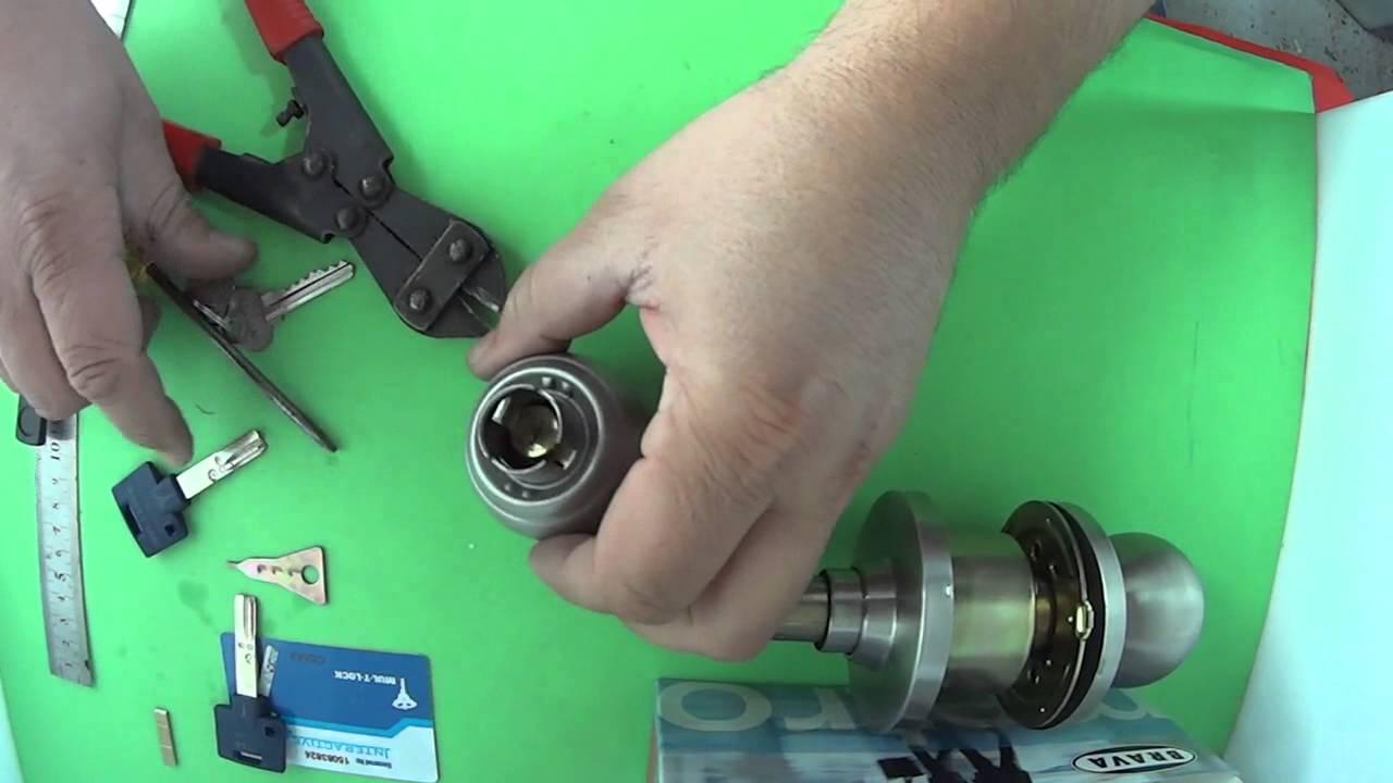 Installing Mul T Lock High Security Key Cylinder In Knob Lock
