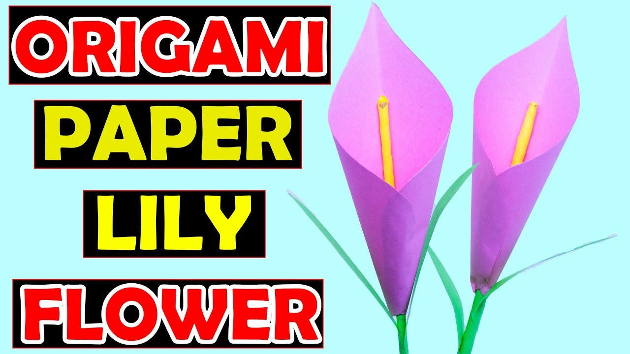 How to make a paper flower origami lily flower youtube how to make a paper flower origami lily flower mightylinksfo