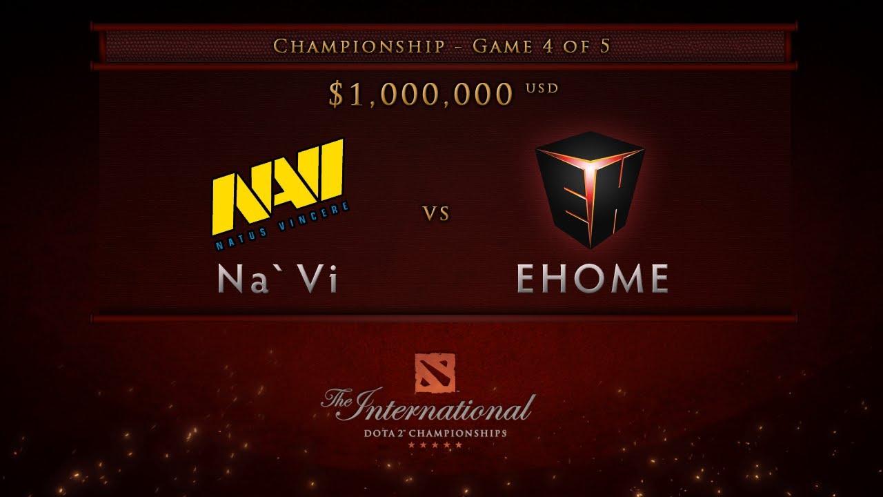 Ehome Vs Navi Game  Championship Finals Dota  International English Commentary Youtube